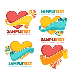 hearts labels vector image