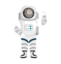 Male astronaut cartoon colorful icon vector