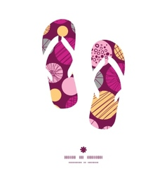 Abstract textured bubbles flip flops silhouettes vector