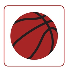 basketball ball 1 vector image
