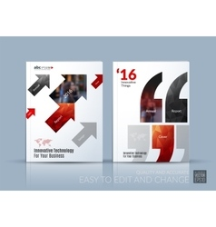 Business brochure template layout cover vector