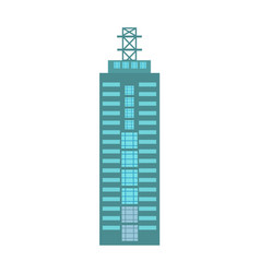 Business building isolated icon vector