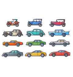 Cars history vector