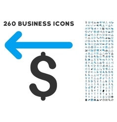 Cashback icon with flat set vector