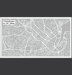Copenhagen map in retro style hand drawn vector