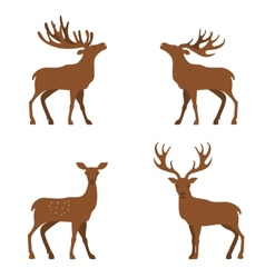 deer flat vector image vector image
