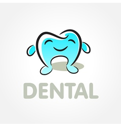dental tooth smile symbol emblem sign vector image vector image