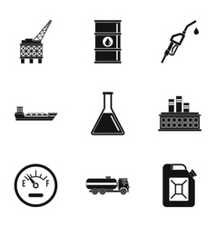 Gasoline icons set simple style vector