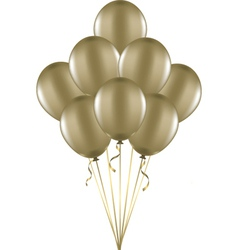 Gold balloons vector image vector image
