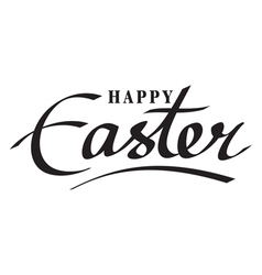 happy easter hand lettering hand calligraphy vector image vector image
