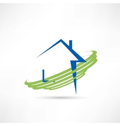 House of eco technologies icon vector image