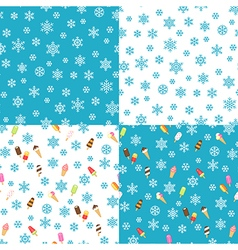 icecream patterns vector image vector image