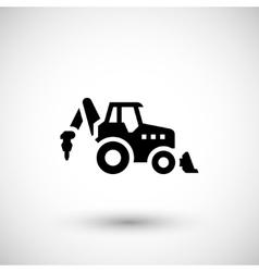 Industrial tractor icon vector