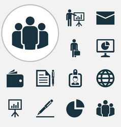 Job icons set collection of contract vector