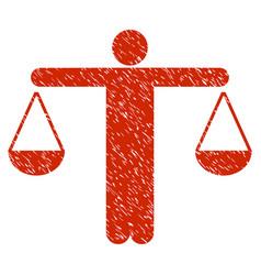 Judge person grunge icon vector