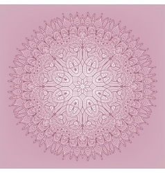 Lace pink pattern - vector image vector image