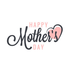 mothers day vintage label background vector image