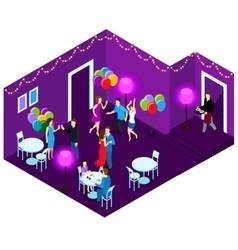 People at party isometric vector