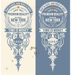 Premium quality banner baroque ornaments vector