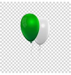 Realistic air gel balloon vector