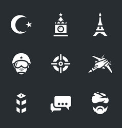 Set of europe immigration icons vector