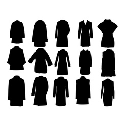 silhouette coats eps10 vector image vector image