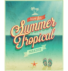 summer tropical vector image