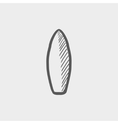 Surfboard sketch icon vector image