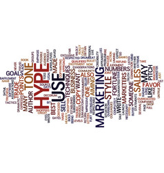The anatomy of hype text background word cloud vector