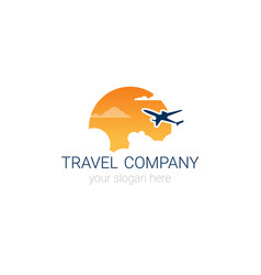 travel company logo icon tourism agency banner vector image