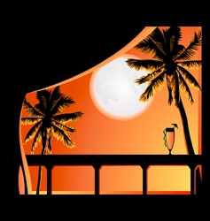 tropic night vector image vector image