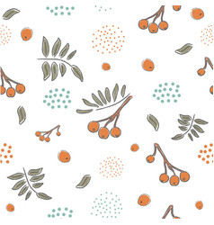 winter seamless pattern with hand drawn cute vector image vector image