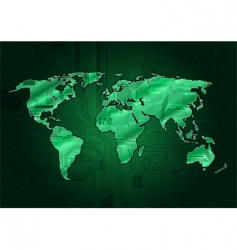 world circuit vector image vector image