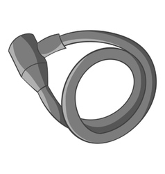 Lock for bicycle icon gray monochrome style vector