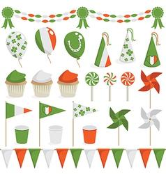 irish decorations vector image