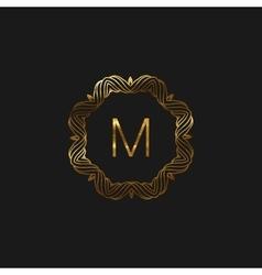 floral monogram frame vector image
