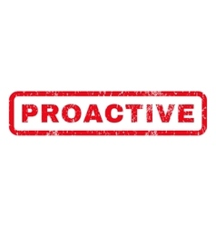 Proactive rubber stamp vector