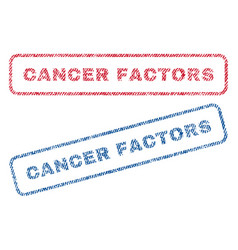 Cancer factors textile stamps vector