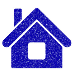 Home icon grunge watermark vector