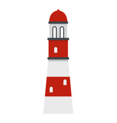 Lighthouse icon isolated vector