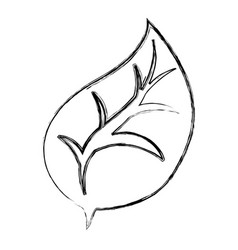 leaf nature draw vector image