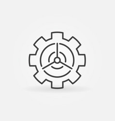 Wind energy in gear concept icon vector