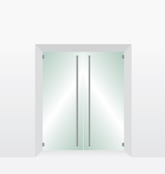 Glass transparent door vector image