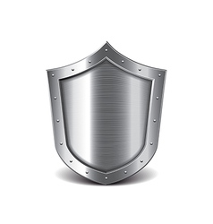 Metal shield isolated vector