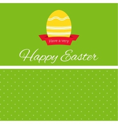 Easter egg with ribbon banner vector