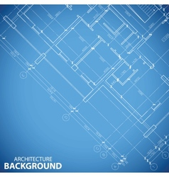 Unique building plan background vector