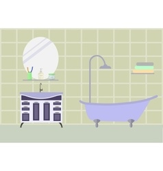 Bathroom room with furniture vector