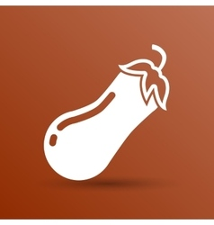 Icon of eggplant logo label icon vector