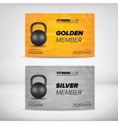 Member card templates vector