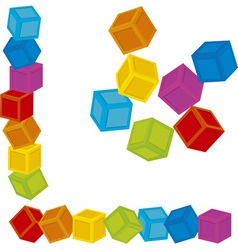 Kid cubes vector